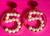 * Chanel Vintage Number Five 5 Pearl Earrings *