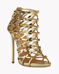 ** Dsquared Dsquared2 Runway Xenia Stud Sandals, Gold **