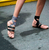 ** NIB RUNWAY: Miu Miu Buckled Leather, Satin BLACK Cameo Ballet Flats **