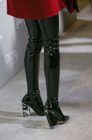 *** Christian Dior Fall 2015 OTK Over the Knee Latex Patent Boots ***