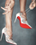 Christian Louboutin Impera Lace-Up 120mm White Patent Pump: Kylie Jenner