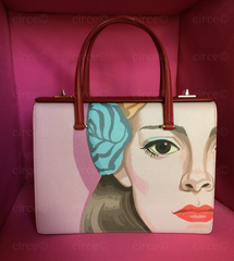 Prada Runway Saffiano Pink Girl Face Art Purse, Bag: ASO RIHANNA