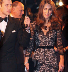 Temperley London Amoret Lace Maxi Dress: ASO Kate Middleton