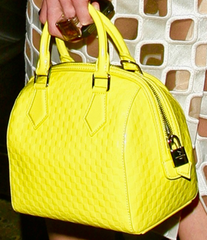** Louis Vuitton Yellow Damier, Speedy Cube PM **
