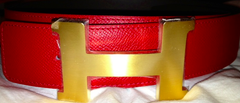 Hermes 'H' 32mm Leather Logo Belt, 2018