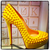 SOLD!!!! Christian Louboutin Bianca Spiked 140mm Pumps: Yellow on Yellow