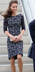 Erdem Cecile (Rare) Navy Blue Lace Dress: ASO Kate Middleton
