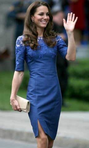 Erdem Blue Lace Jacquenta Dress: ASO Kate Middleton