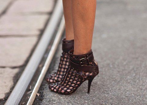 SOLD!!! Givenchy Brown Woven Ankle Booties, Christine Centenera