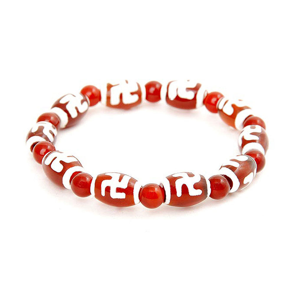 Lucky Dzi Bead Bracelet (8x12mm) - Wanzi as Ten-thosand