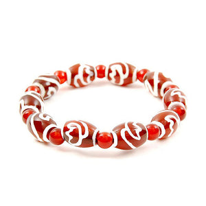 Lucky Dzi Bead Bracelet (10x14mm) - Lotus