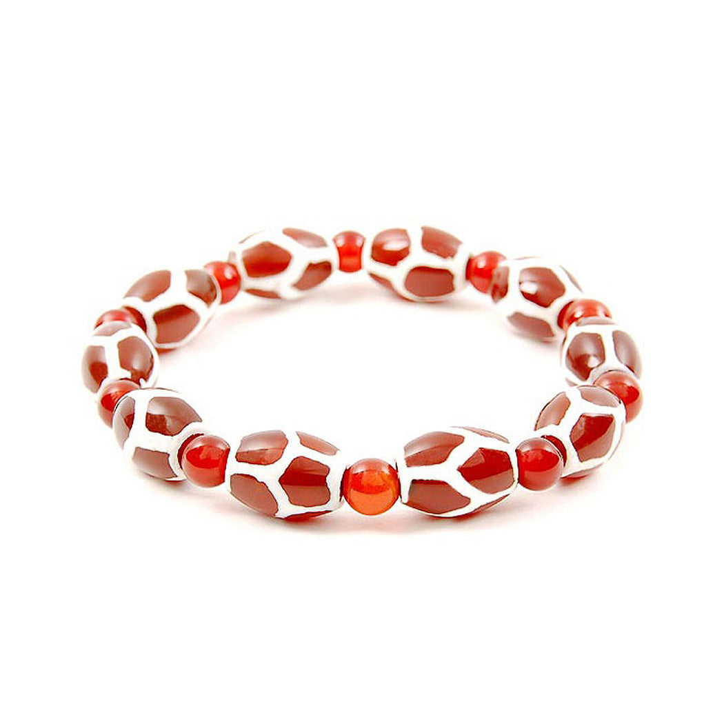 Lucky Dzi Bead Bracelet (10x14mm) - Longevity