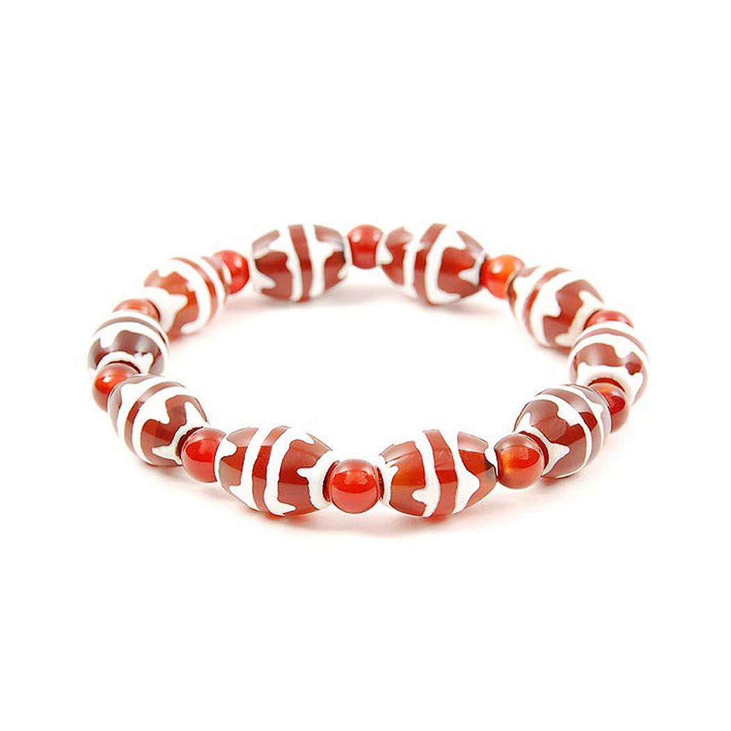 Lucky Dzi Bead Bracelet (10x14mm) - Double Tigers Teeth