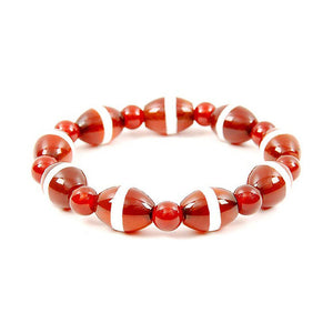 Lucky Dzi Bead Bracelet (12x16mm) - Line Beads