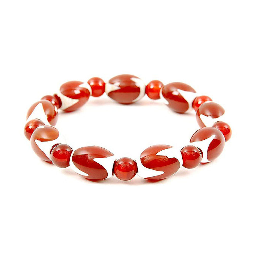 Lucky Dzi Bead Bracelet (12x16mm) - Tigers Teeth