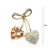 Load image into Gallery viewer, Elegant Brooch with Austrian Element Crystals