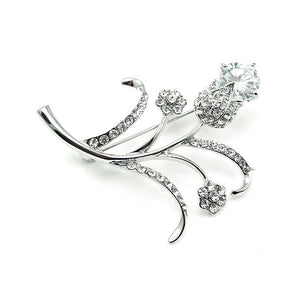 Elegant Brooch with Austrian Element Crystals