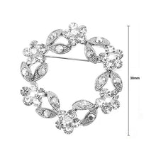 Load image into Gallery viewer, Elegant Flower Brooch with Silver Austrian Element Crystal