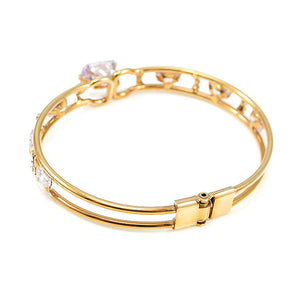 Elegant Bangle with Purple CZ