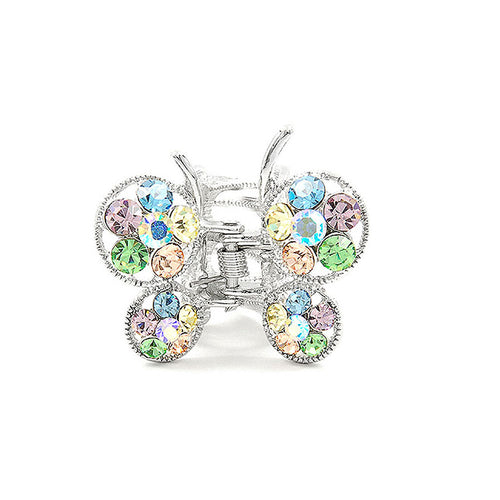Butterfly Clamp in Mutli-color Austrian Element Crystals