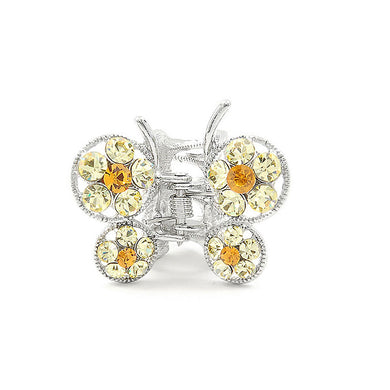 Butterfly Clamp in Yellow Austrian Element Crystals