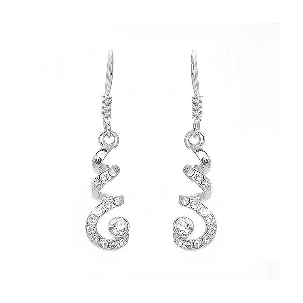 Spinning Earrings with Silver Austrian Element Crystal