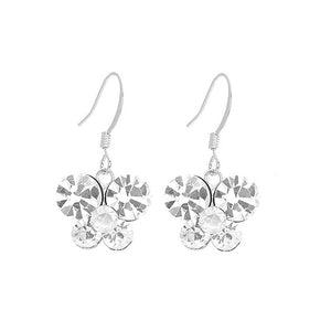 Butterfly Earrings with Silver Austrian Element Crystals
