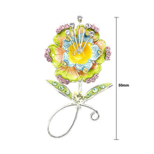 Load image into Gallery viewer, Flower Brooch with Multi-color Austrian Element Crystals