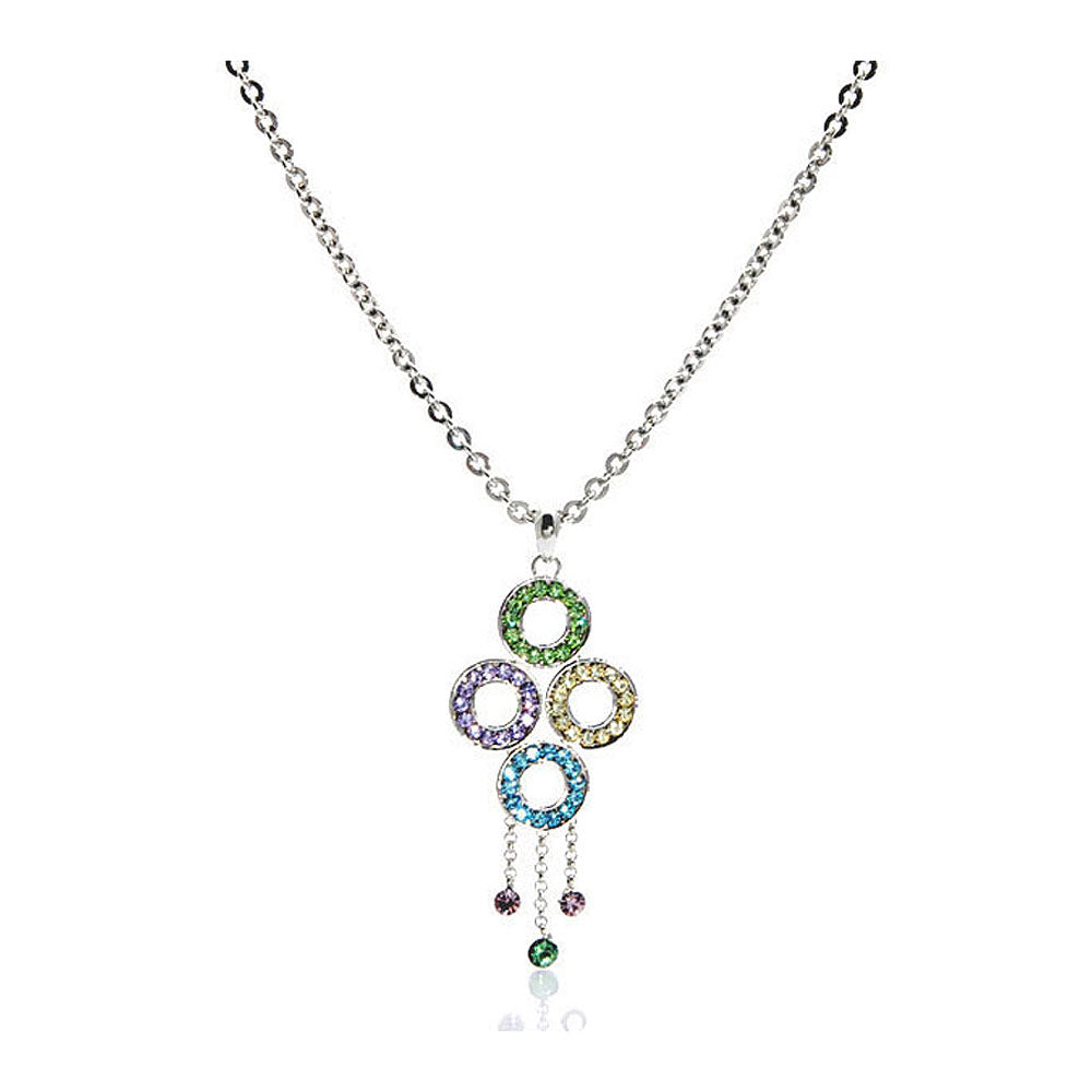 Get Together Pendant with 4-color Austrian Element Crystals and Necklace
