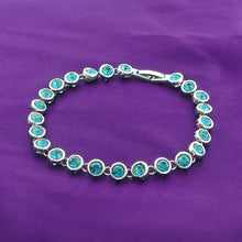 Load image into Gallery viewer, Cutie Dots Bracelet with Blue Austrian Element Crystals