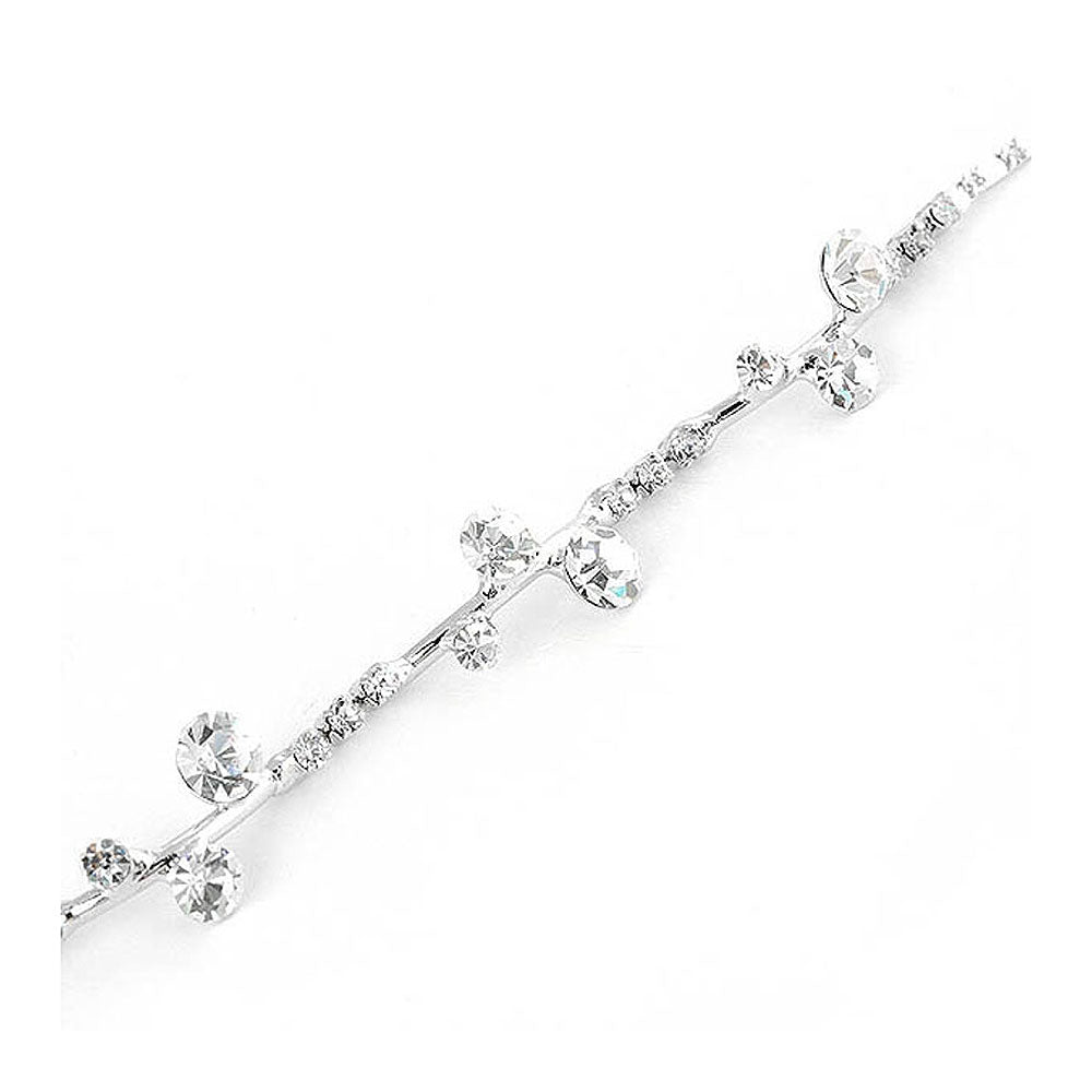 Gracious Bracelet with Silver Austrian Element Crystals