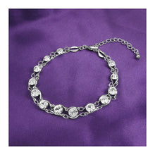Load image into Gallery viewer, Glistening Bracelet with Silver Austrian Element Crystals