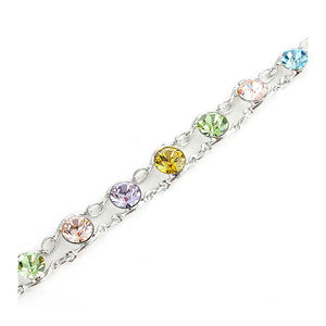 Glistening Bracelet with Multi Color Austrian Element Crystals