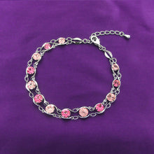 Load image into Gallery viewer, Glistening Bracelet with Pink Austrian Element Crystals