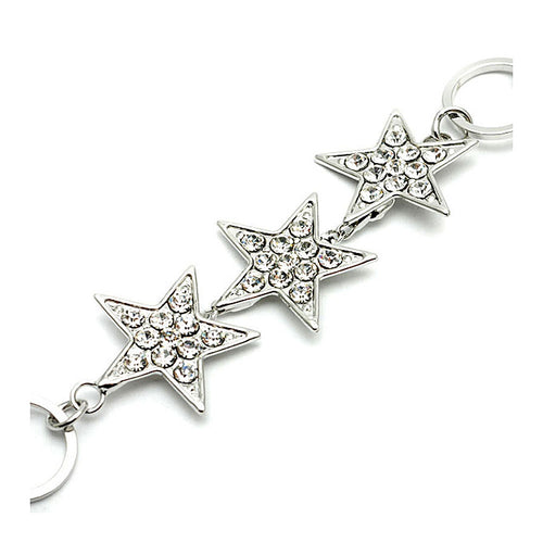 Silver Star Bracelet with Austrian Element Crystals