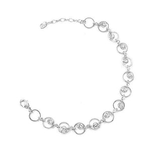 Fantastic Circle Bracelets with Silver Austrian Element Crystals