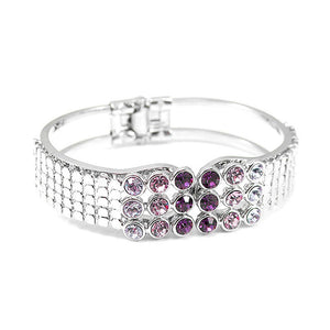Elegant Bangle with Purple Austrian Element Crystal