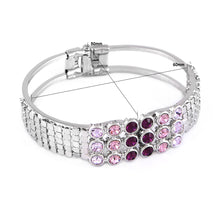 Load image into Gallery viewer, Elegant Bangle with Purple Austrian Element Crystal