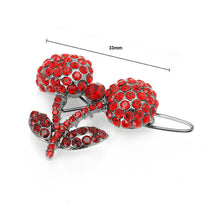 Load image into Gallery viewer, Cherry Hair Clip in Red Austrian Element Crystals