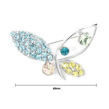 Load image into Gallery viewer, Butterfly Brooch with Multi-color Austrian Element Crystals