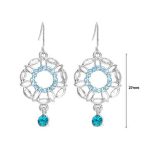 Load image into Gallery viewer, Antique Earrings with Blue Austrian Crystals