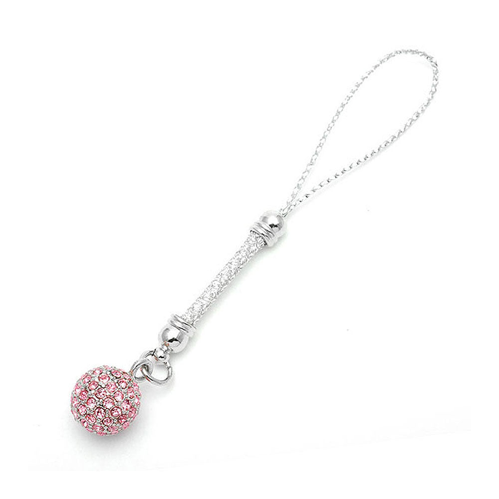 Elegant Ball Strap with Pink Austrian Element Crystals