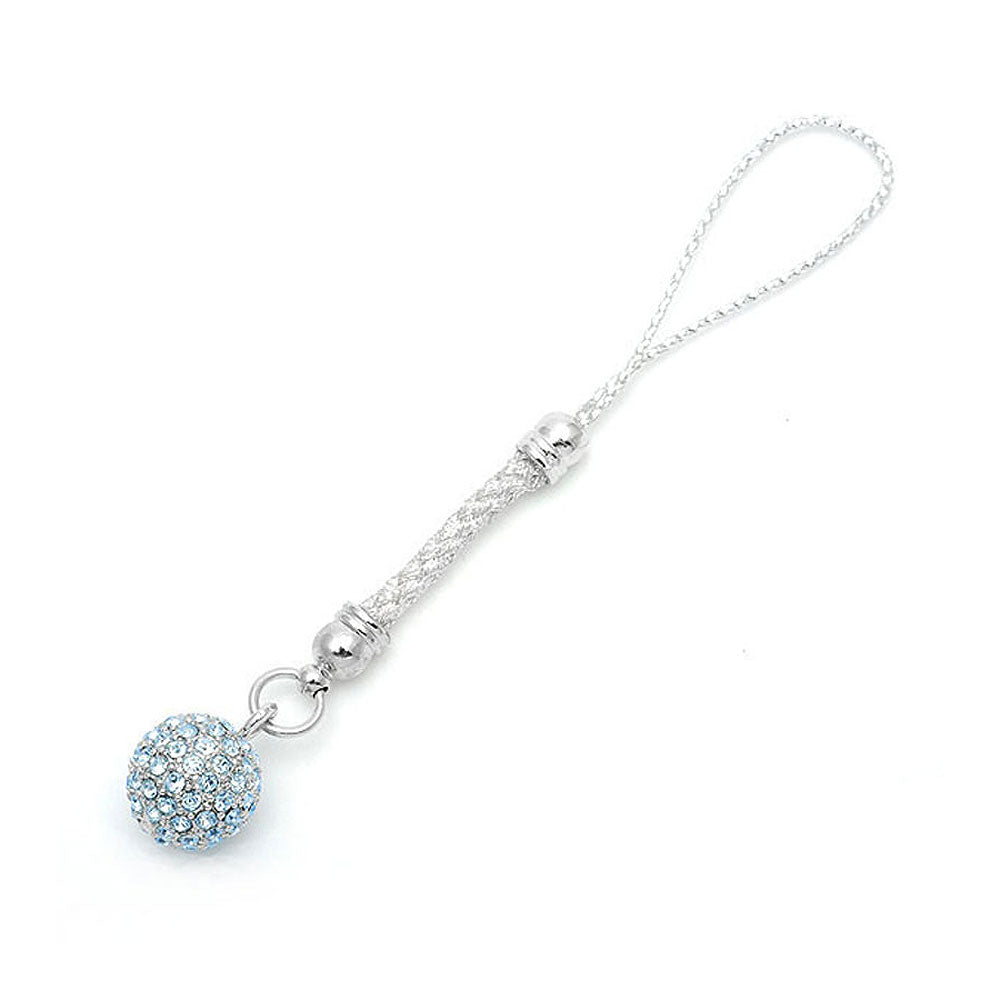 Elegant Ball Strap with Light Blue Austrian Element Crystals