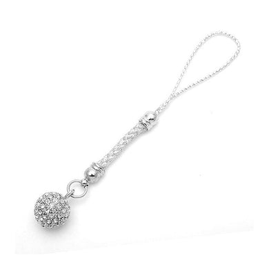 Elegant Ball Strap with Silver Austrian Element Crystals