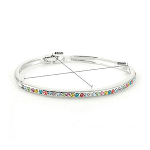 Elegant Bangle with Multi Color Austrian Element Crystals