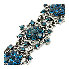 Load image into Gallery viewer, Antique Bracelet with Banquet Elegance Blue Austrian Element Crystals