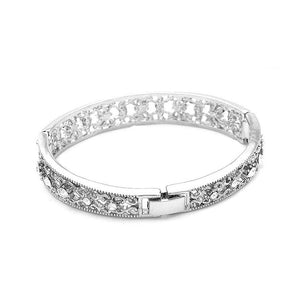 Antique Bangle with Silver CZ Bead