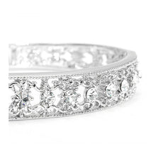 Load image into Gallery viewer, Antique Bangle with Silver CZ Bead