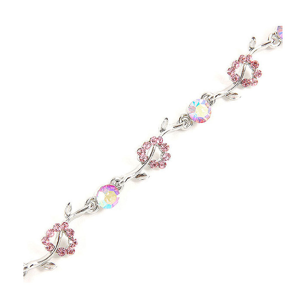 Sparkling Bracelet with Pink Austrian Element Crystals