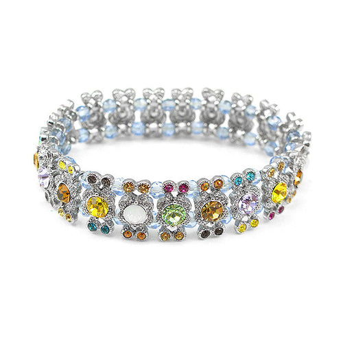 Elegant Bangle with Multi-color Austrian Element Crystal
